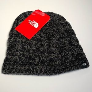 The North Face- Fuzzy Cable Beanie- fleece lined